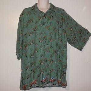 Vintage US Polo XL Shirt Hawaiian Button E477